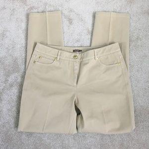 J. McLaughlin khaki ankle dress slacks pants- 8